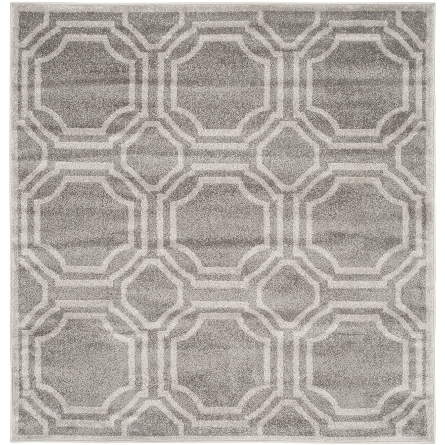Indoor Outdoor Rugs Square: Safavieh Amherst Mosaic Gray/Light Gray Square Indoor