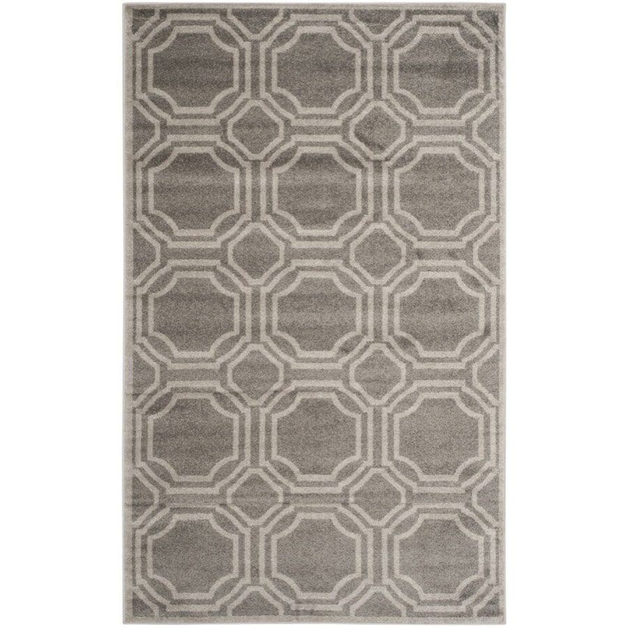 Safavieh Amherst Mosaic Gray/Light Gray Rectangular Indoor/Outdoor Machine-made Moroccan Area Rug (Common: 6 x 9; Actual: 6-ft W x 9-ft L)