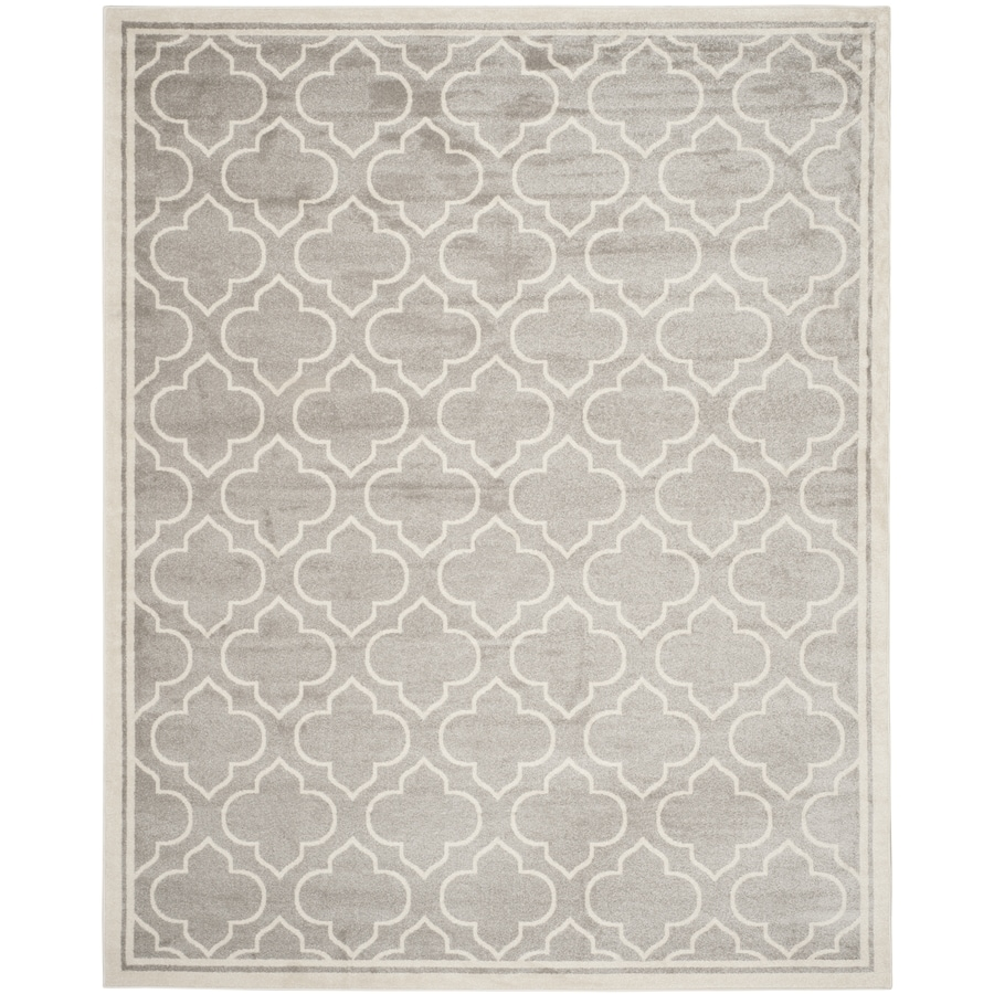 Safavieh Amherst Moroccan Gray/Ivory Rectangular Indoor/Outdoor Machine-Made Moroccan Area Rug (Common: 10 x 14; Actual: 10-ft W x 14-ft L)