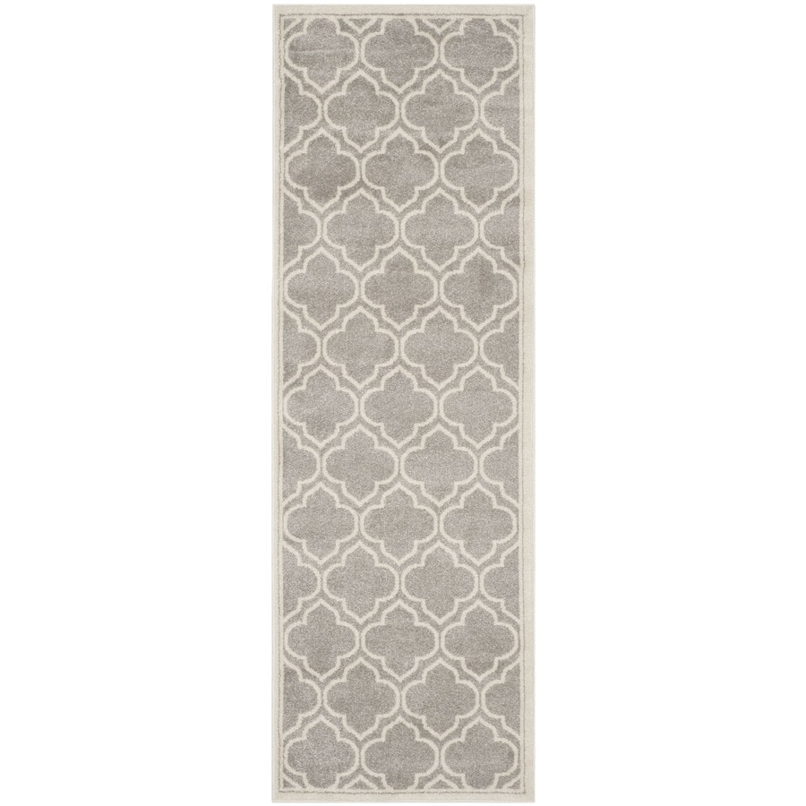 Safavieh Amherst Gray/Ivory Rectangular Indoor/Outdoor Machine-Made Moroccan Runner (Common: 2.3 x 11; Actual: 2.25-ft W x 11-ft L x 0-ft Dia)