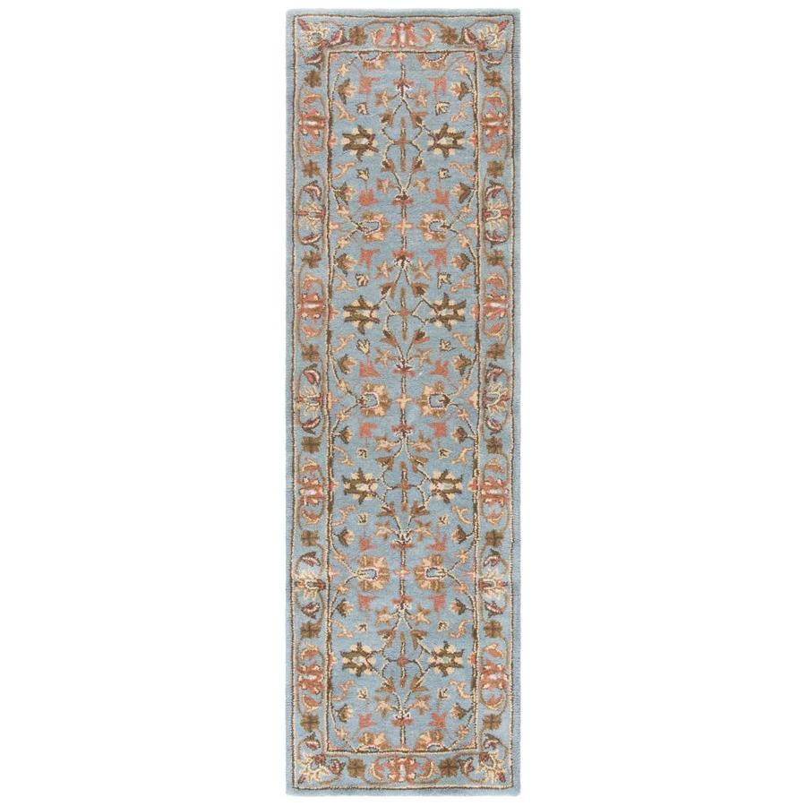 Safavieh Heritage Salor Blue/Blue Rectangular Indoor Handcrafted Oriental Runner (Common: 2 x 14; Actual: 2.25-ft W x 14-ft L)