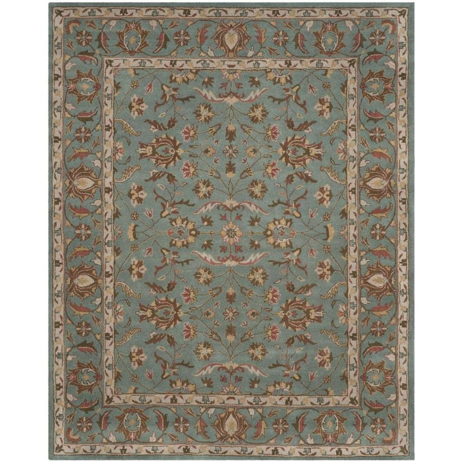 Safavieh Heritage Salor Blue/Blue Indoor Handcrafted Oriental Area Rug (Common: 6 x 9; Actual: 6-ft W x 9-ft L)