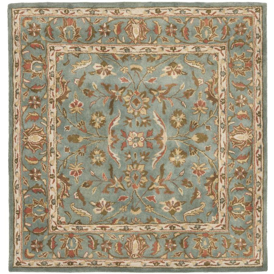 Safavieh Heritage Salor Blue/Blue Square Indoor Handcrafted Oriental Area Rug (Common: 6 x 6; Actual: 6-ft W x 6-ft L)