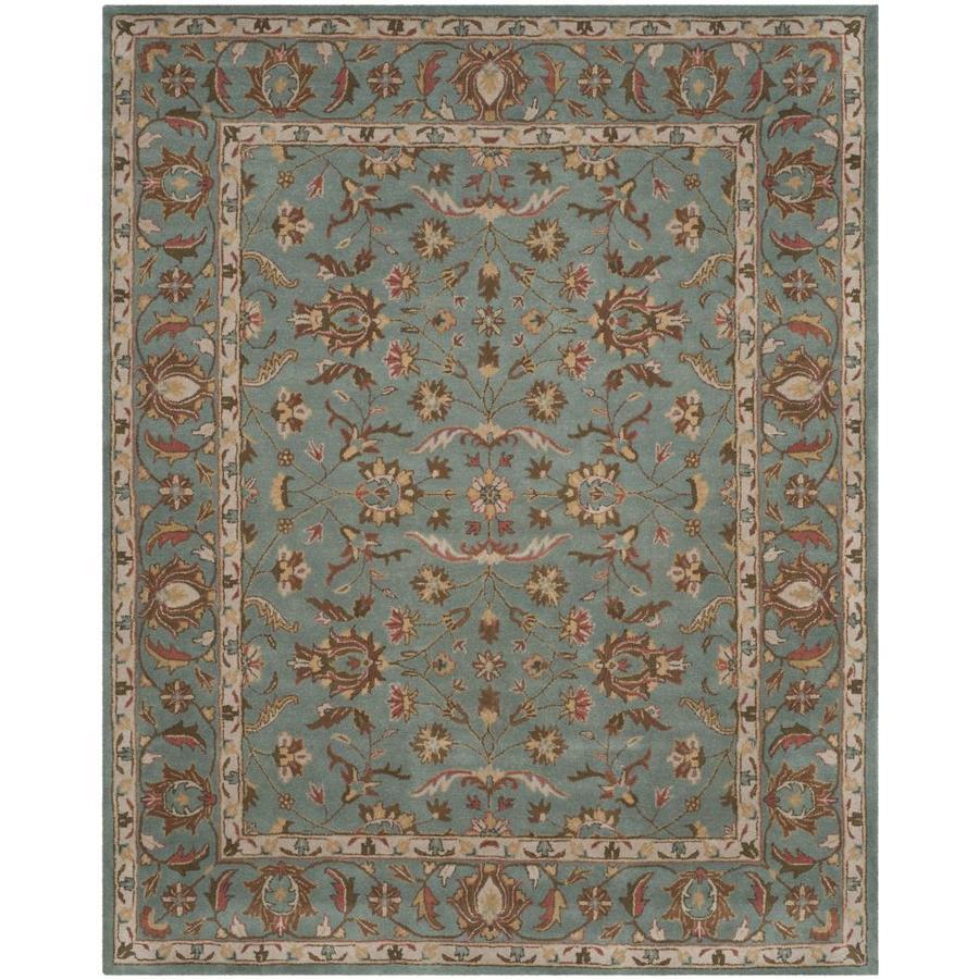 Safavieh Heritage Salor Blue/Blue Rectangular Indoor Handcrafted Oriental Area Rug (Common: 8 x 11; Actual: 8.25-ft W x 11-ft L)