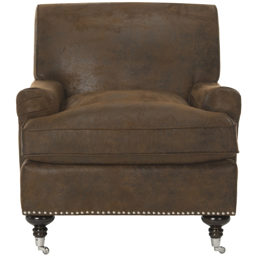 Brown Accent Chair: Safavieh Chloe Casual Brown Accent Chair At Lowes.com