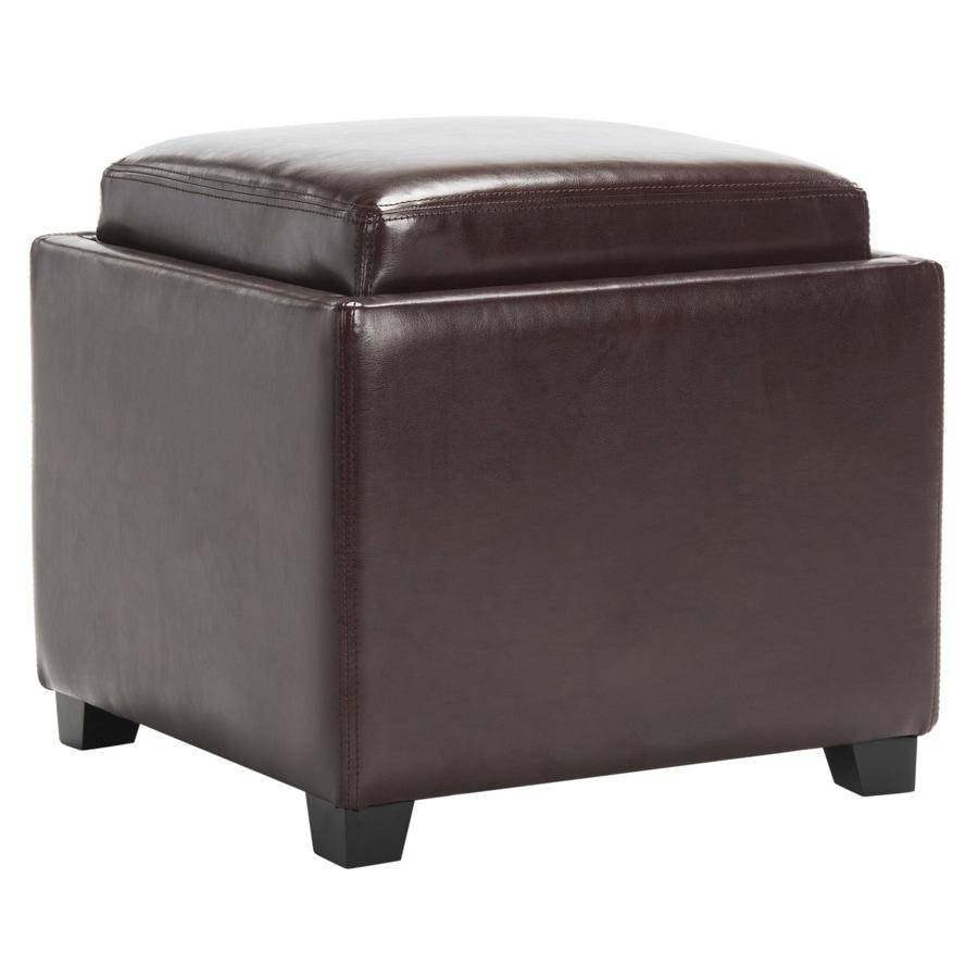 Safavieh Bobbi Casual Cordovan Faux Leather Storage Ottoman