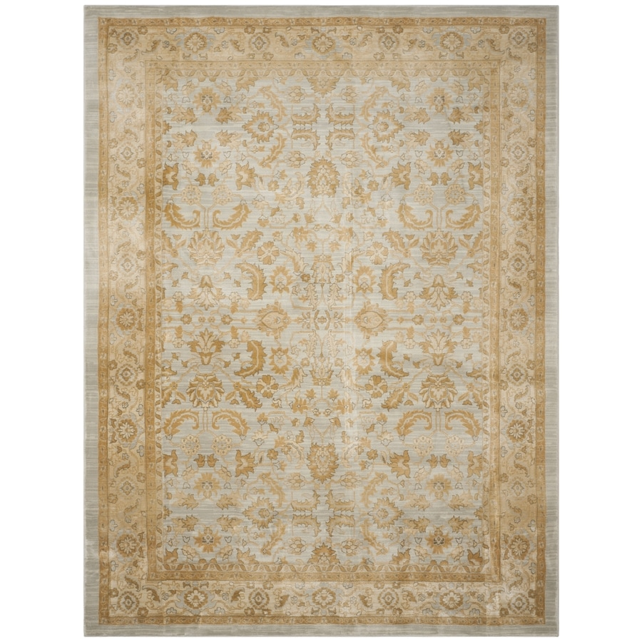 light blue and gold area rug