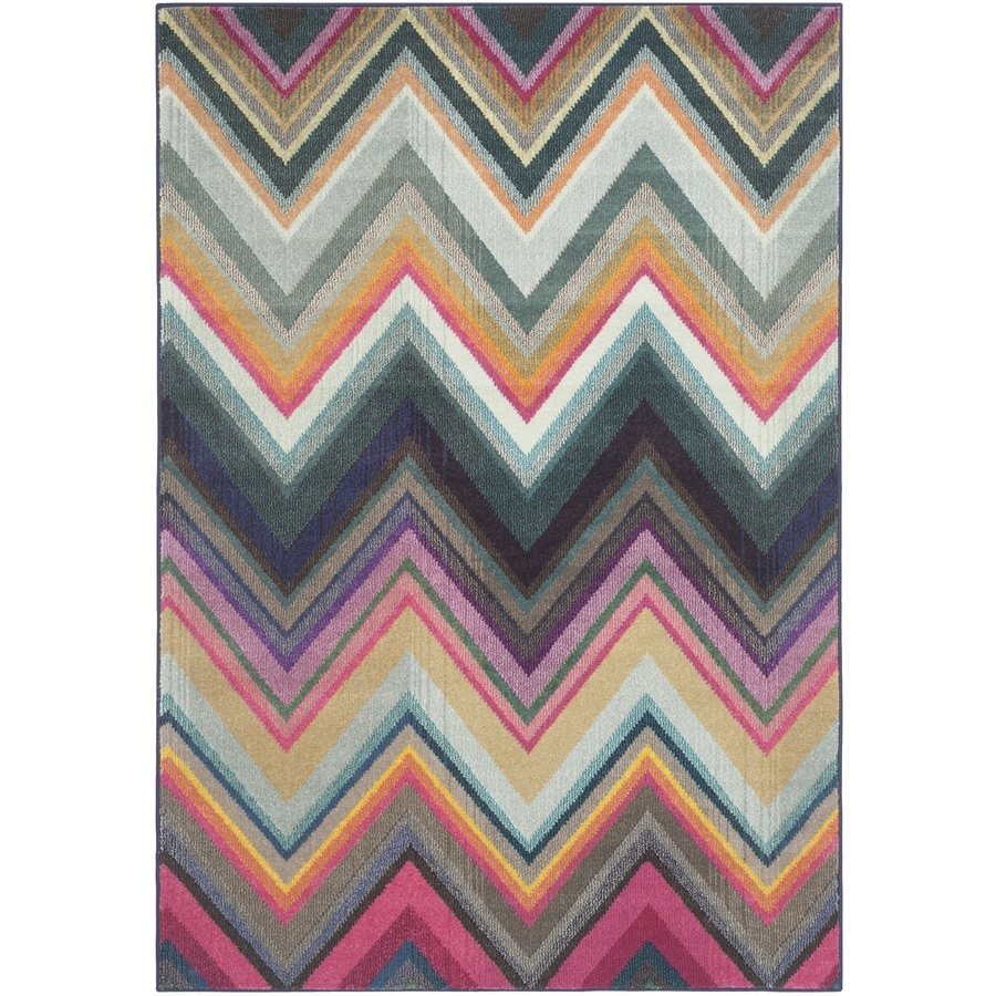 Safavieh Monaco Statica Multi Rectangular Indoor Machine-made Lodge Area Rug (Common: 6 x 9; Actual: 6.6-ft W x 9.2-ft L)