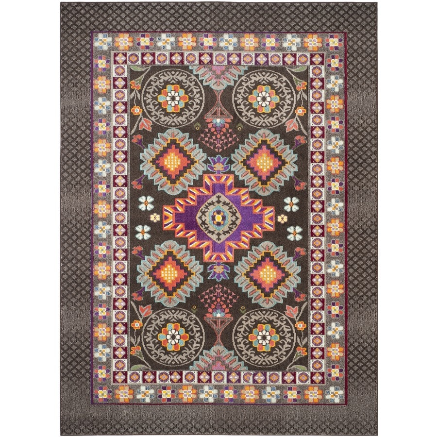 Safavieh Monaco Reyes Brown/Multi Rectangular Indoor Machine-made Nature Area Rug (Common: 6 x 9; Actual: 6.6-ft W x 9.2-ft L)