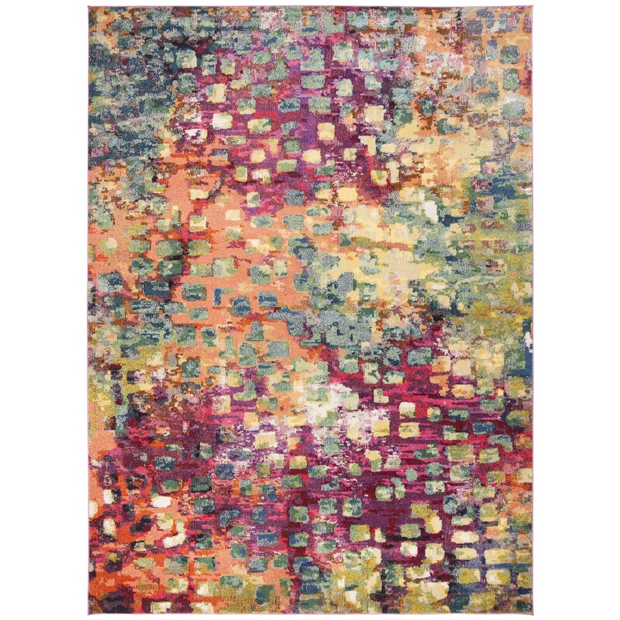 Safavieh Monaco Pink/Multi Rectangular Indoor Machine-Made Area Rug (Common: 9 x 12; Actual: W x L x 0-ft Dia)