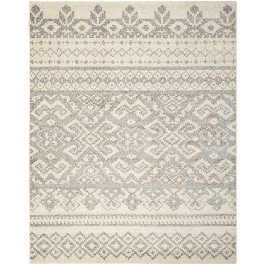 Safavieh Adirondack Ivory/Silver Rectangular Indoor Machine-Made Lodge Area Rug (Common: 11 x 15; Actual: 11-ft W x 15-ft L x 0-ft Dia)