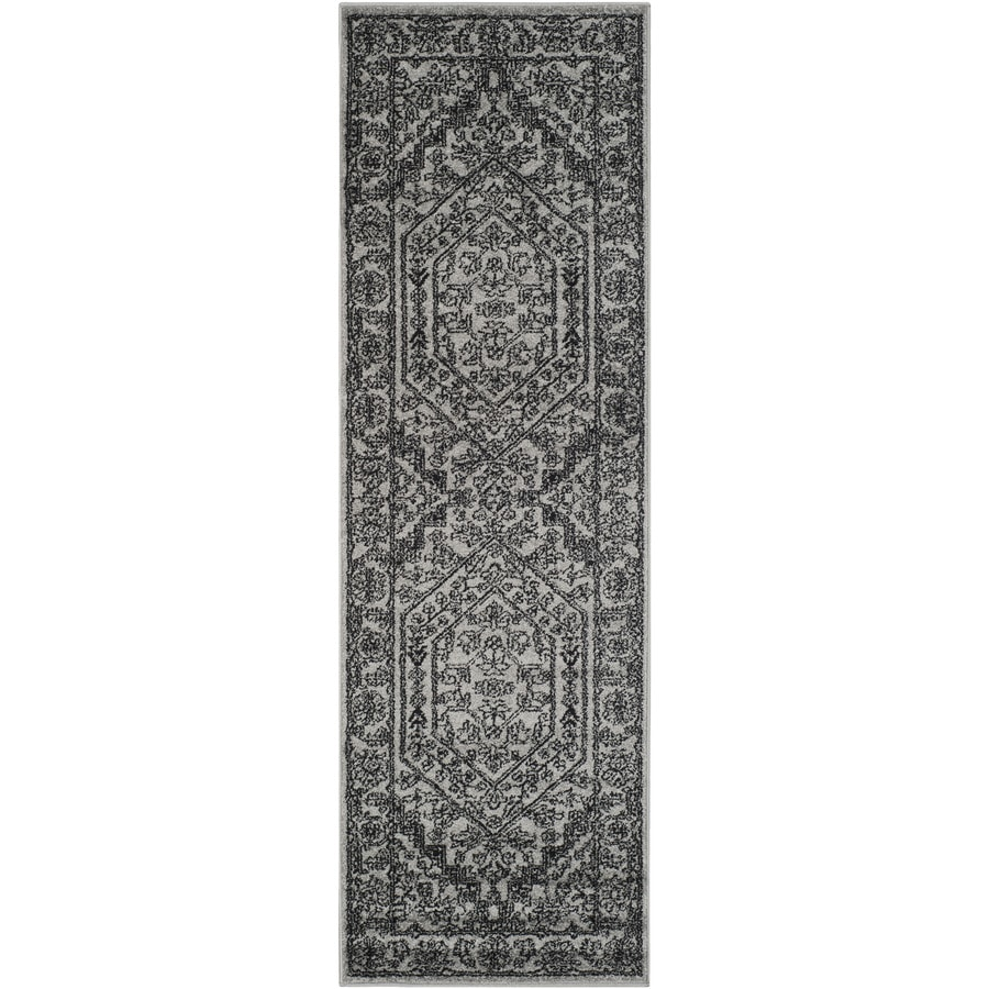 Safavieh Adirondack Silver/Black Rectangular Indoor Machine-Made Lodge Runner (Common: 2 x 12; Actual: 2.5-ft W x 12-ft L)