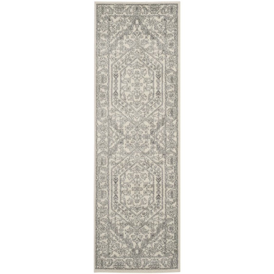 Safavieh Adirondack Herati Ivory/Silver Rectangular Indoor Machine-made Lodge Runner (Common: 2 x 14; Actual: 2.5-ft W x 14-ft L)