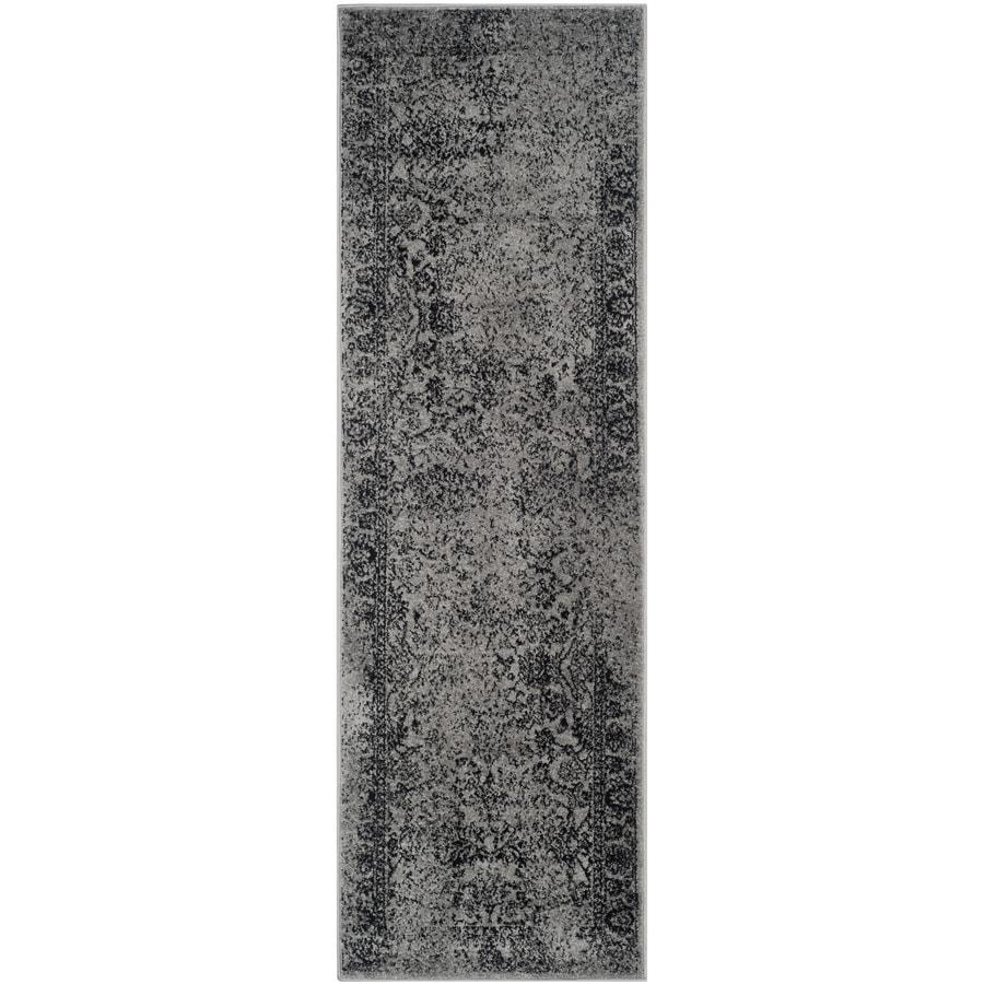 Safavieh Adirondack Gray/Black Rectangular Indoor Machine-Made Lodge Runner (Common: 2 x 6; Actual: 2.5-ft W x 6-ft L)