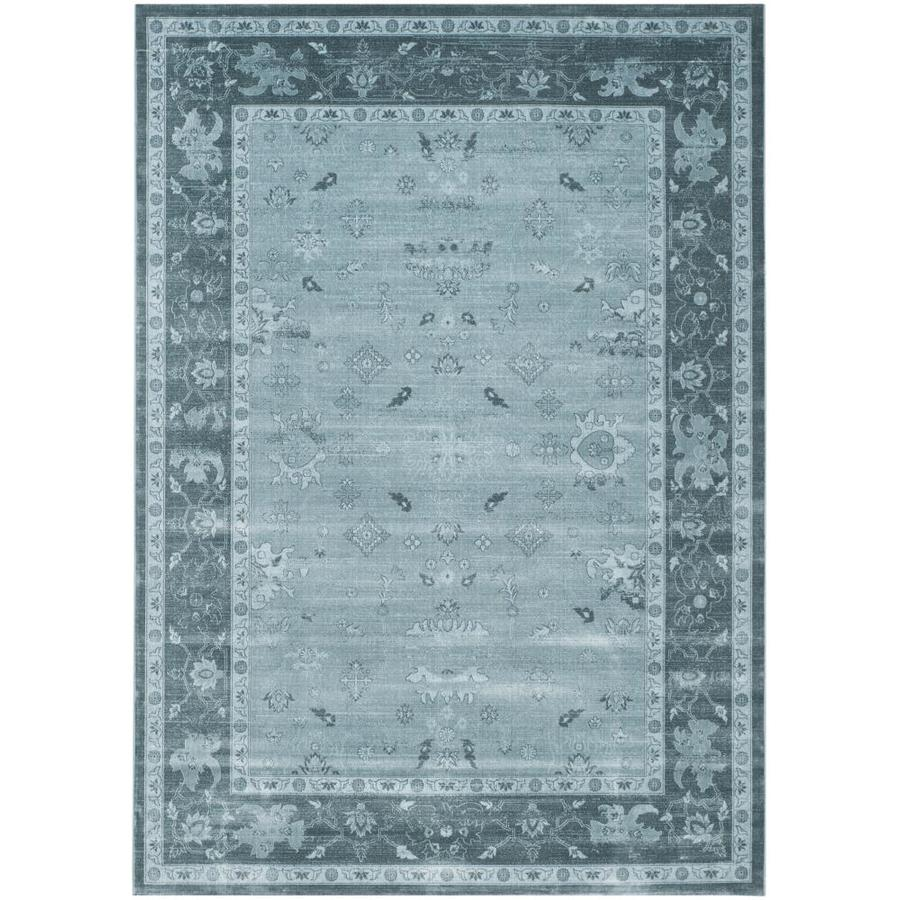 Safavieh Vintage Oushak Light Blue/Dark Blue Rectangular Indoor Machine-made Distressed Area Rug (Common: 8 x 11; Actual: 8-ft W x 11-ft L)