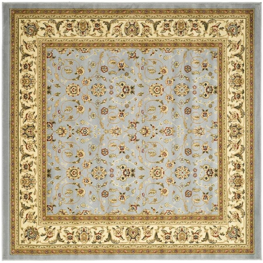 Safavieh Lyndhurst Light Blue/Ivory Square Indoor Machine-Made Oriental Area Rug (Common: 10 x 10; Actual: 10-ft W x 10-ft L)
