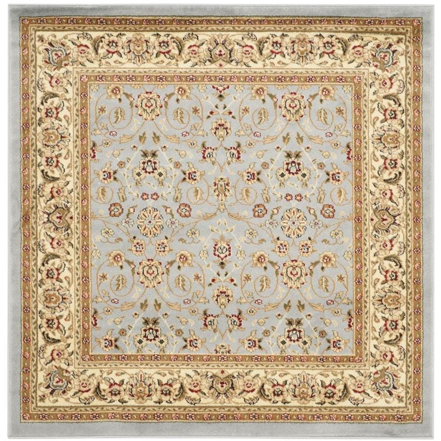 Safavieh Lyndhurst Qum Light Blue/Ivory Square Indoor Oriental Area Rug (Common: 5 x 5; Actual: 5-ft W x 5-ft L)