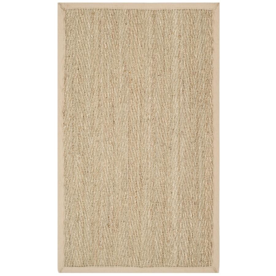 Safavieh Natural Fiber Montauk Natural/Beige Indoor Coastal Throw Rug (Common: 3 x 5; Actual: 3-ft W x 5-ft L)