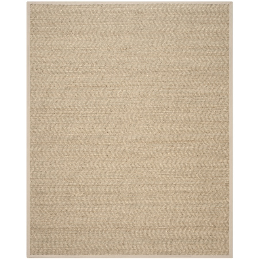 Safavieh Natural Fiber Montauk Natural/Beige Indoor Coastal Area Rug (Common: 9 x 12; Actual: 9-ft W x 12-ft L)