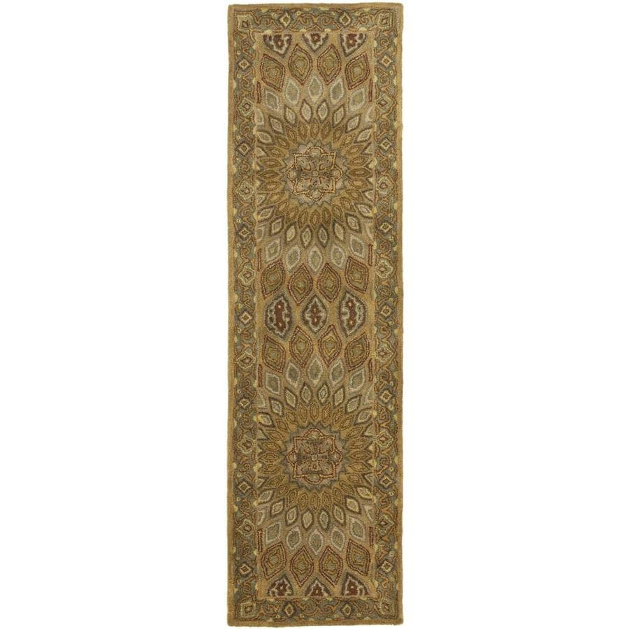 Safavieh Heritage Chador Light Brown/Gray Indoor Handcrafted Oriental Runner (Common: 2 x 6; Actual: 2.25-ft W x 6-ft L)