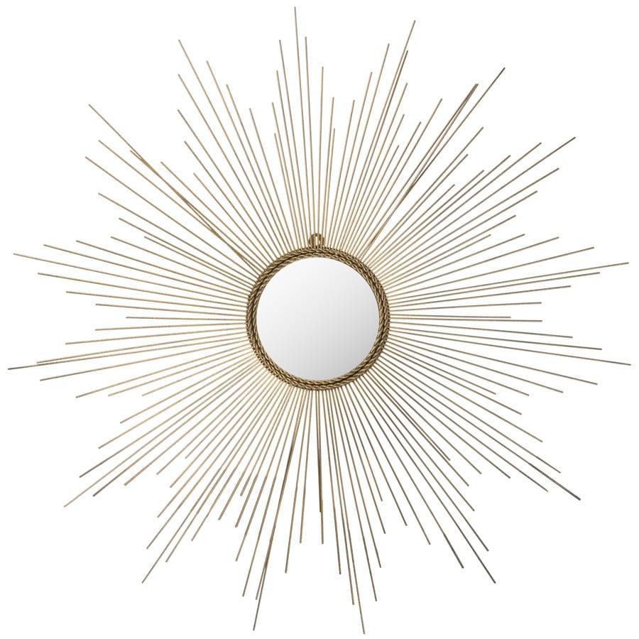 Safavieh Marinda Gold Polished Round Wall Mirror