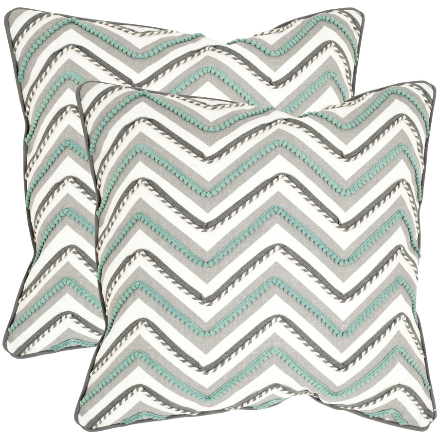 Safavieh Elli 2-Piece 22-in W x 22-in L Green/White Indoor Decorative Pillow