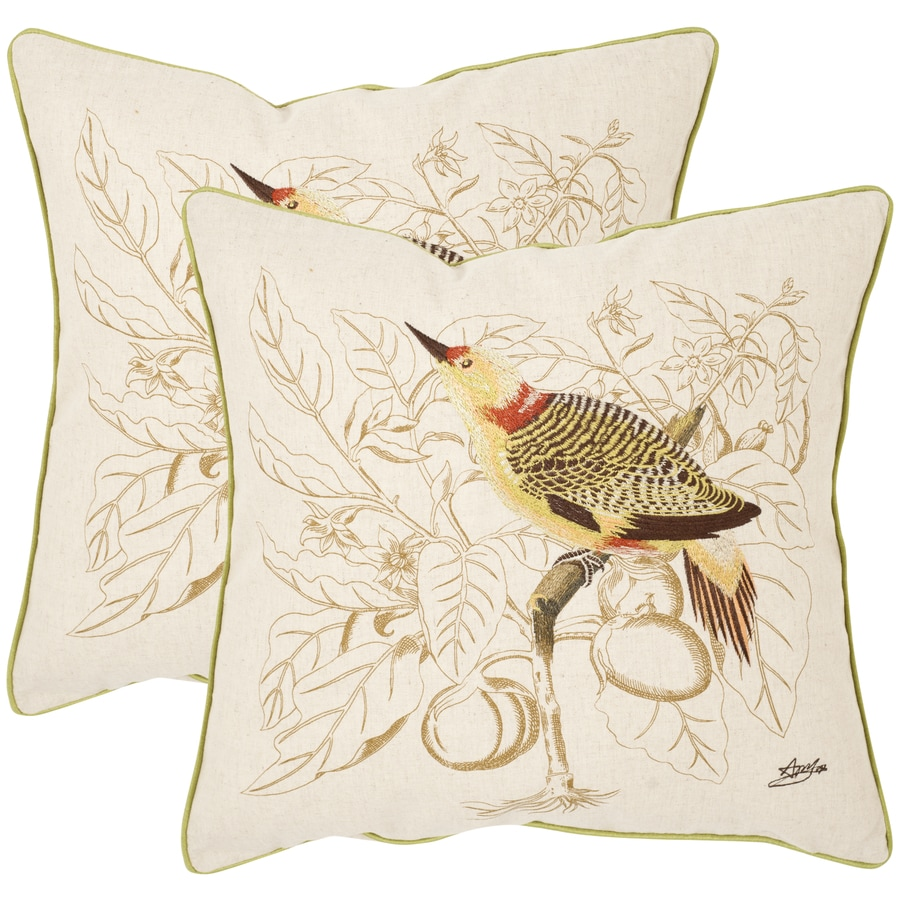 Safavieh Esty 2-Piece 22-in W x 22-in L Creme Square Indoor Decorative Pillow