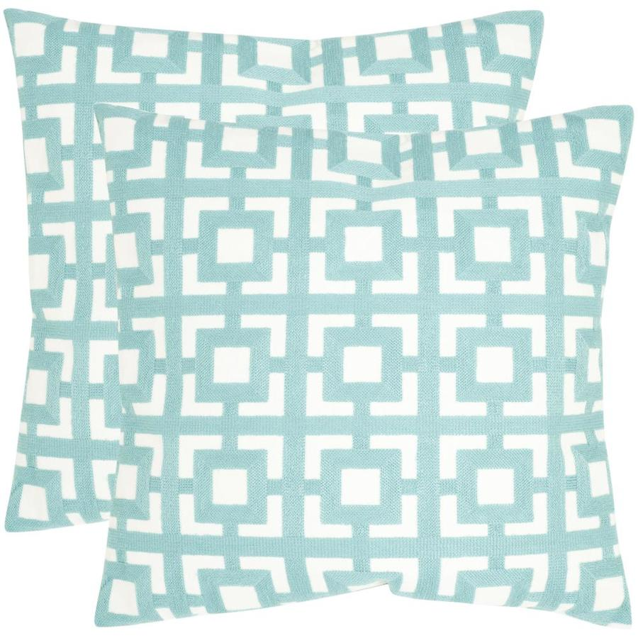 Safavieh Emily 2-Piece 22-in W x 22-in L Turquoise Square Indoor Decorative Pillow