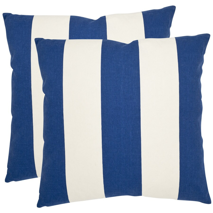 Safavieh Sally 2-Piece 22-in W x 22-in L Navy/Blue Square Indoor Decorative Pillow