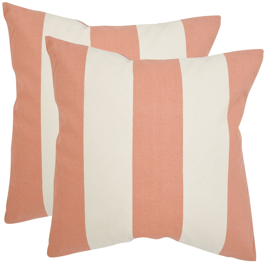 Safavieh Sally 2-Piece 22-in W x 22-in L Peach Square Indoor Decorative Pillow