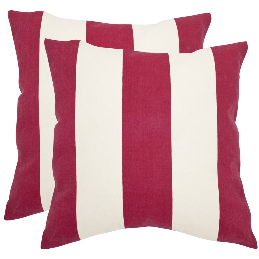 Safavieh Sally 2-Piece 22-in W x 22-in L Red Square Indoor Decorative Pillow