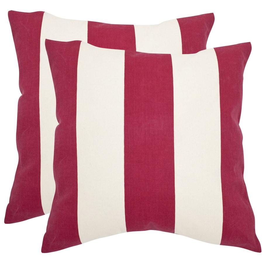 Safavieh Sally 2-Piece 22-in W x 22-in L Red Indoor Decorative Pillow