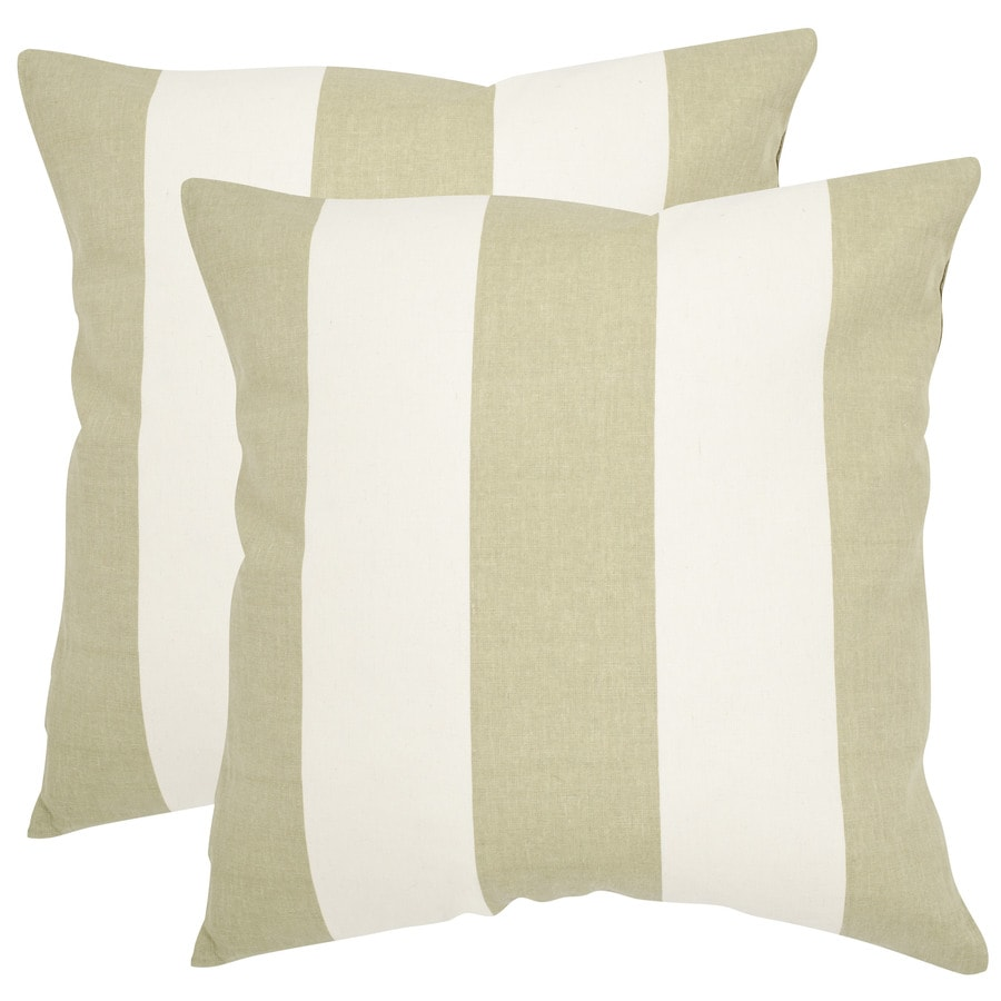 Safavieh Sally 2-Piece 18-in W x 18-in L Sage/Green Square Indoor Decorative Pillow