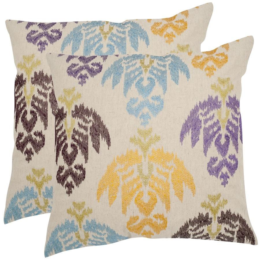 Safavieh Dina 2-Piece 22-in W x 22-in L Brown Indoor Decorative Pillow