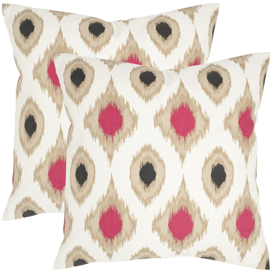 Safavieh Miranda 2-Piece 22-in W x 22-in L Taupe Square Indoor Decorative Pillow