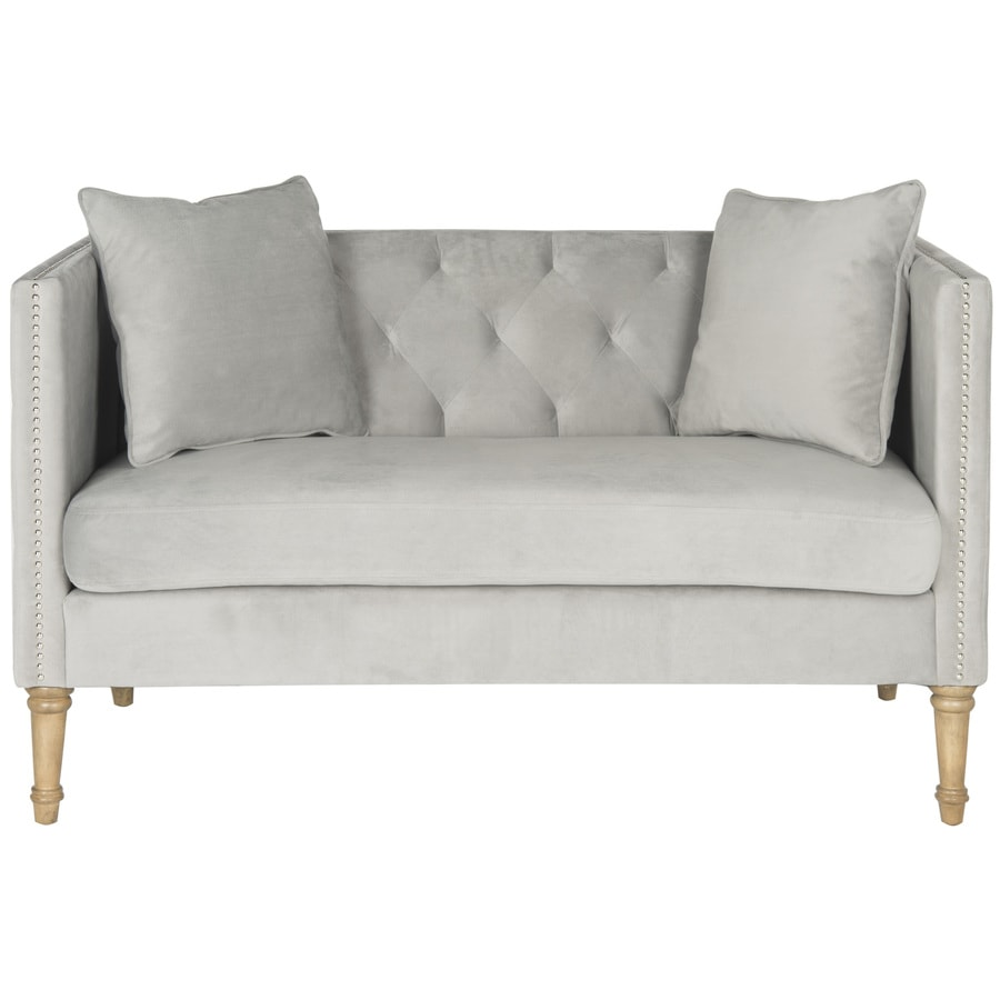 Safavieh Fox Gray/Silver Synthetic Stationary Loveseat
