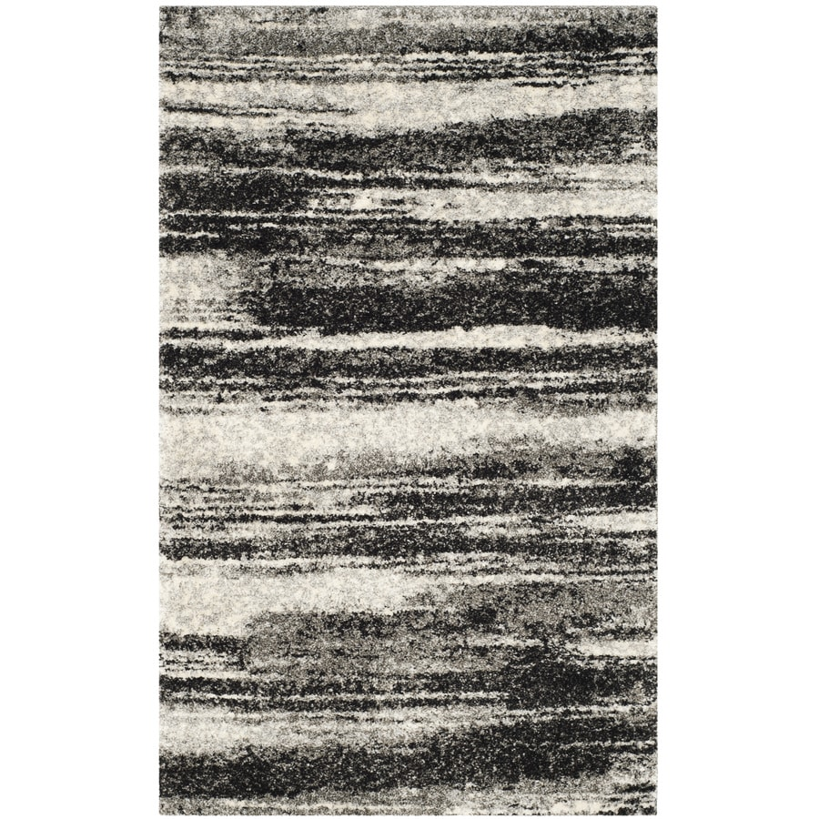 Safavieh Retro Fissure Dark Gray/Light Gray Rectangular Indoor Machine-made Distressed Throw Rug (Common: 3 x 5; Actual: 3-ft W x 5-ft L)