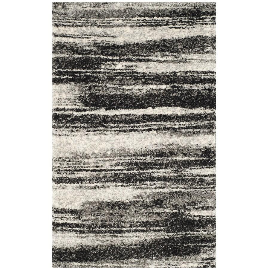 Safavieh Retro Fissure Dark Gray/Light Gray Indoor Distressed Throw Rug (Common: 3 x 5; Actual: 3-ft W x 5-ft L)