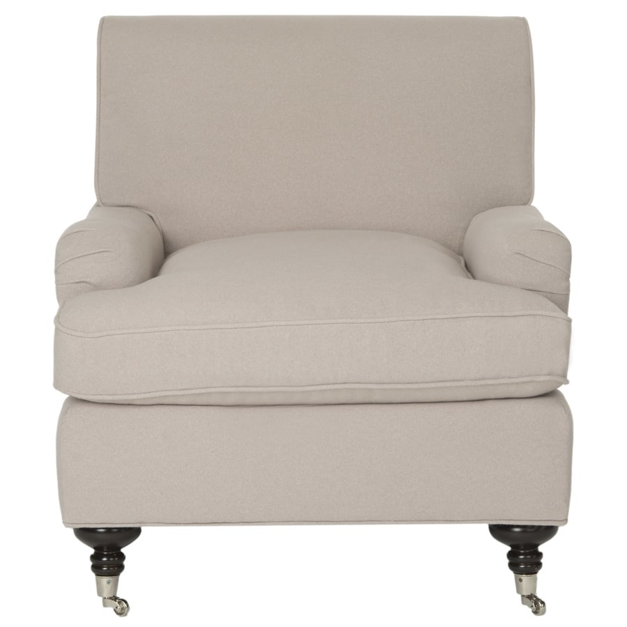 Safavieh Chloe Casual Taupe/Silver Casters Accent Chair