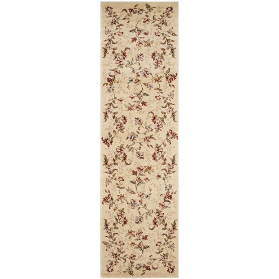 Safavieh Lyndhurst Chester Beige Indoor Oriental Runner (Common: 2 x 14; Actual: 2.25-ft W x 14-ft L)