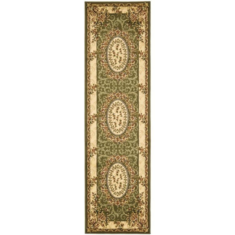 Safavieh Lyndhurst Sage/Ivory Rectangular Indoor Machine-Made Oriental Runner (Common: 2.3 x 14; Actual: 2.25-ft W x 14-ft L)
