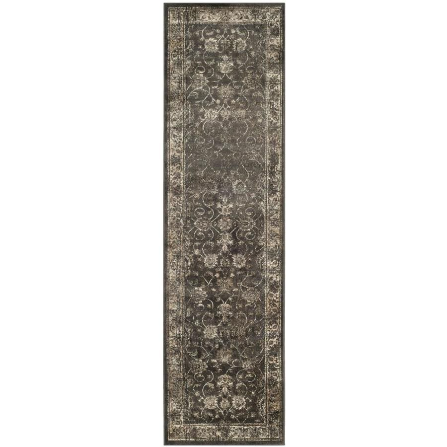 Safavieh Vintage Mosed Soft Anthracite Rectangular Indoor Machine-made Distressed Runner (Common: 2 x 14; Actual: 2.2-ft W x 14-ft L)