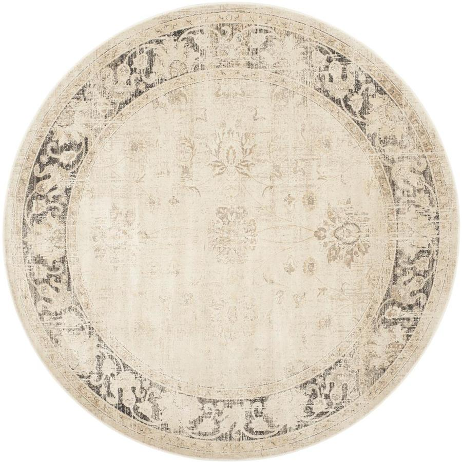 Safavieh Vintage Stone Round Indoor Machine-Made Distressed Area Rug (Common: 7.10 x 7.10; Actual: 8-ft W x 8-ft L x 8-ft dia)