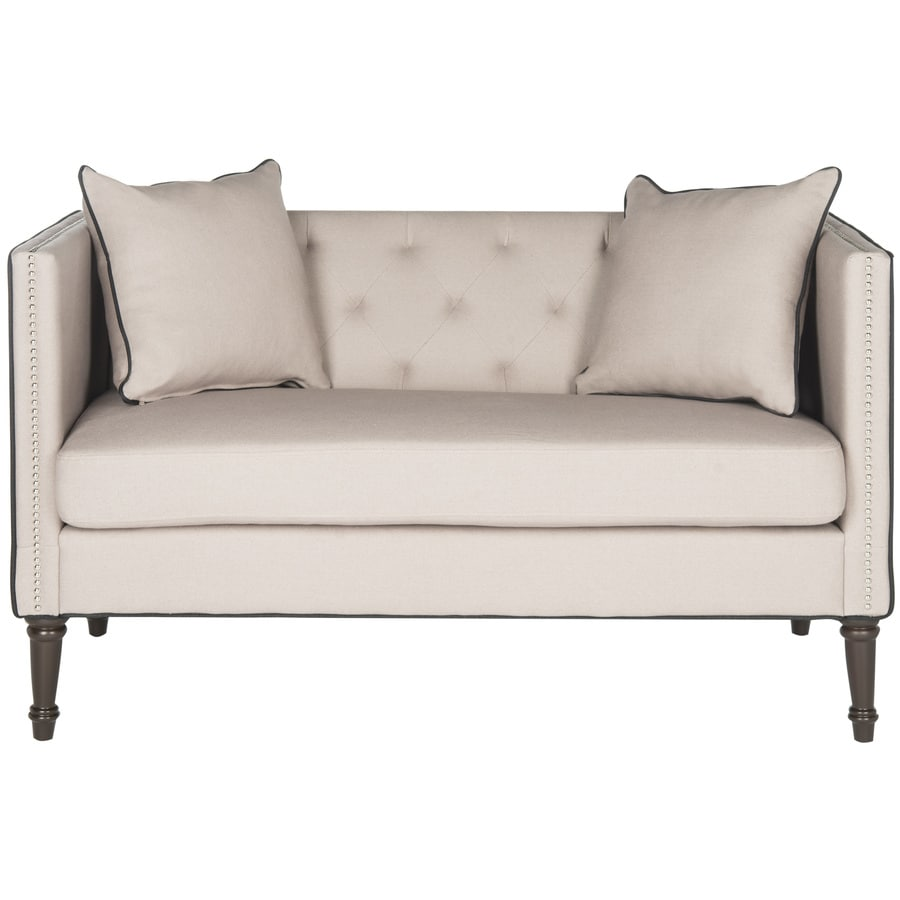 Safavieh Fox Cream/Beige/Almond Synthetic Stationary Loveseat