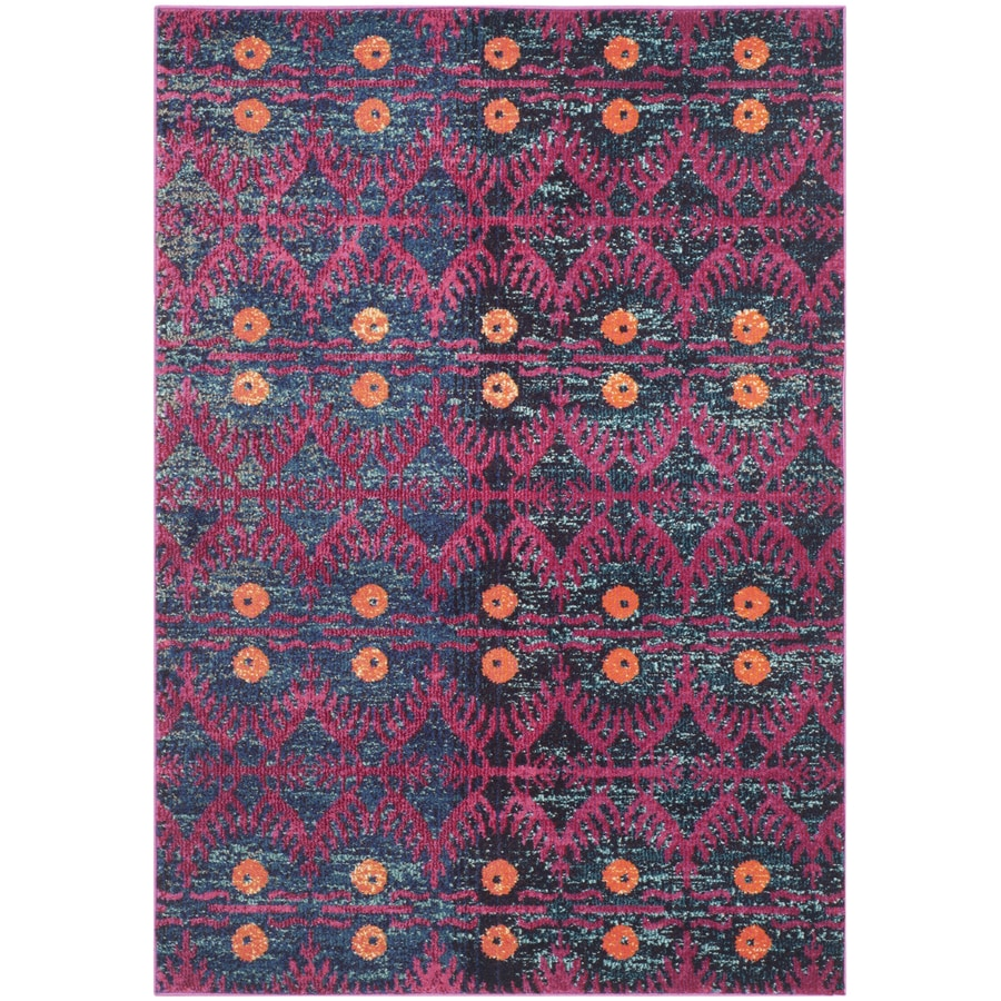 Safavieh Monaco Adel Pink/Multi Rectangular Indoor Machine-made Lodge Area Rug (Common: 4 x 6; Actual: 4-ft W x 5.6-ft L)