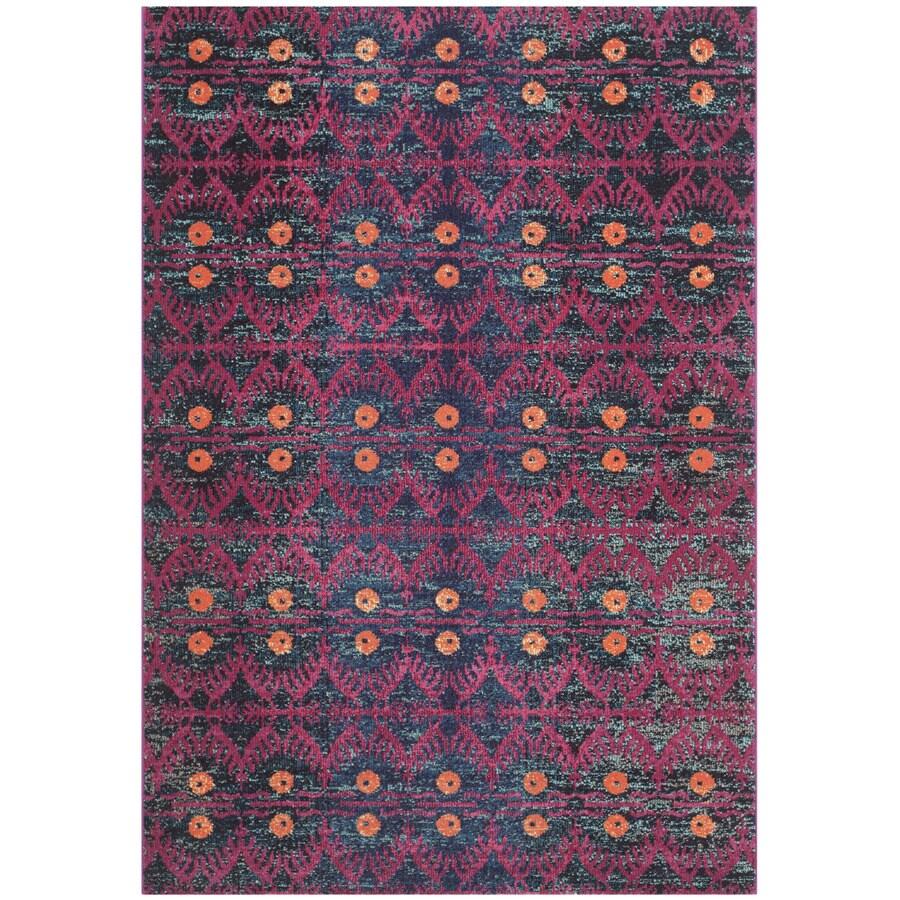Safavieh Monaco Pink/Multi Rectangular Indoor Machine-Made Area Rug (Common: 5 x 7; Actual: W x L x 0-ft Dia)