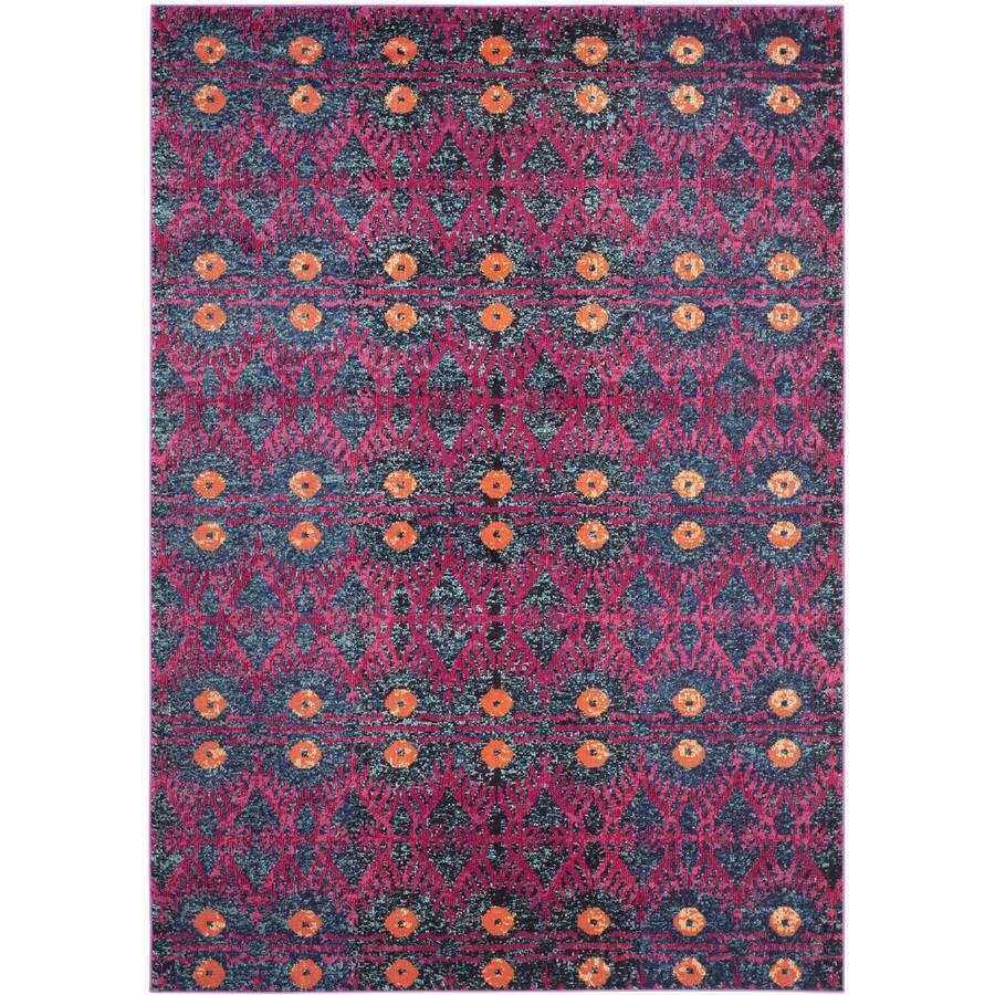 Safavieh Monaco Adel Pink Indoor Lodge Area Rug (Common: 7 x 9; Actual: 6.7-ft W x 9.2-ft L)