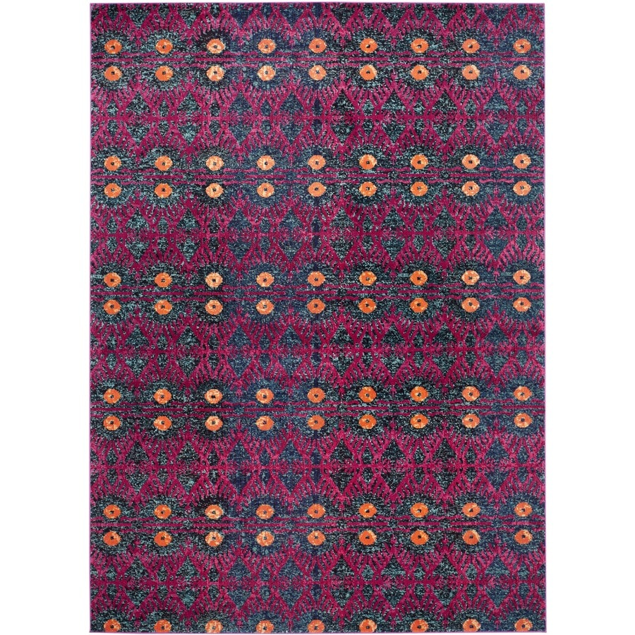 Safavieh Monaco Adel Pink/Multi Rectangular Indoor Machine-made Lodge Area Rug (Common: 9 x 12; Actual: 9-ft W x 12-ft L)