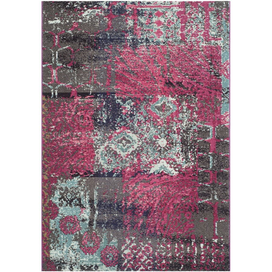 Safavieh Monaco Pink/Multi Rectangular Indoor Machine-Made Area Rug (Common: 5 x 7; Actual: W x L x 0-ft Dia)