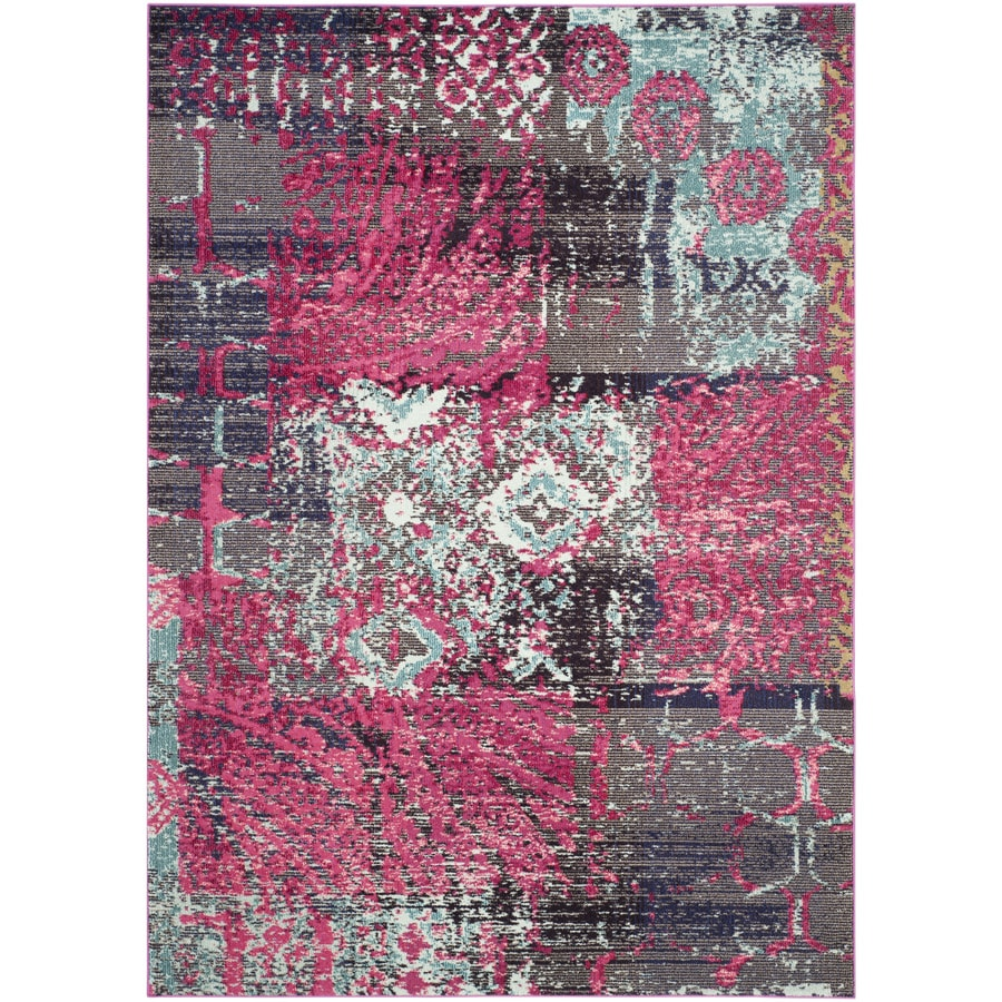 Safavieh Monaco Pink/Multi Rectangular Indoor Machine-Made Area Rug (Common: 6 x 9; Actual: W x L x 0-ft Dia)